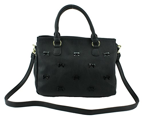 Betsey Johnson Little Bow Chic N/S Satchel Shoulder Bag, Black