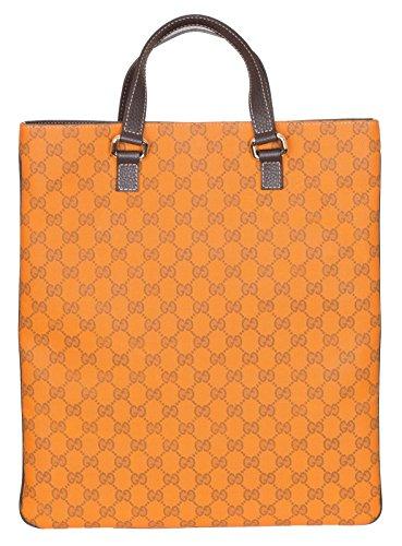 Gucci Orange Guccissima GG Slim Portfolio Purse Bag Handbag Tote Unisex