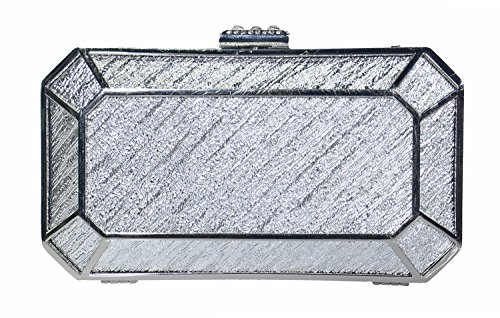 George Versailles Clutch Baguette Bag Purse Women Evening Handbag with Detachable Chain