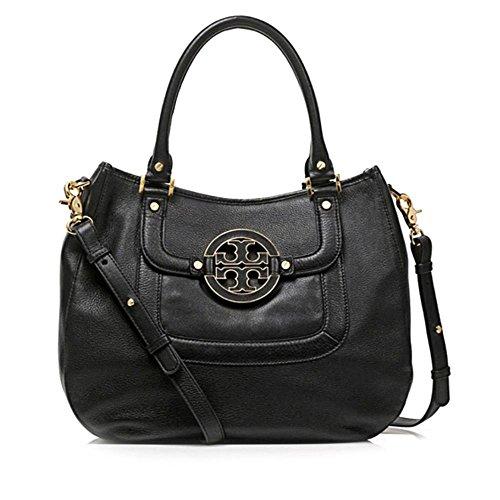 Tory Burch Amanda Womens Black Purse Leather Satchel