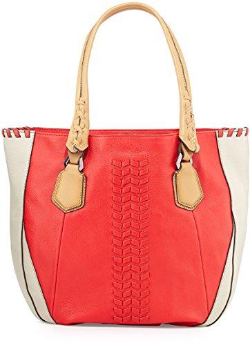 Oryany Lyssie Satchel Bag Tote Berry Multi Flat Braided Leather
