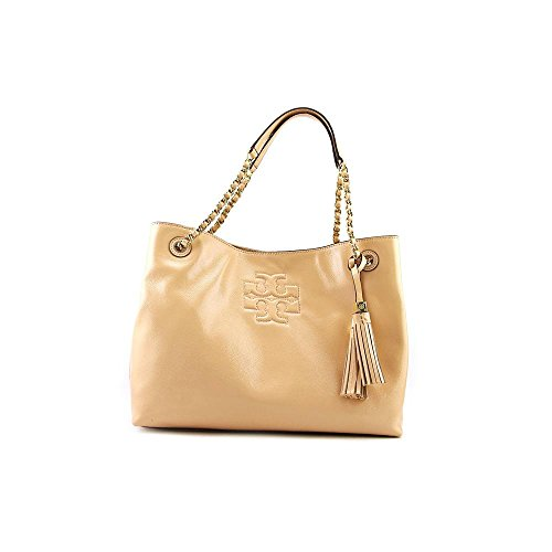 Tory Burch Thea Patent Chain Shoulder Womens Leather Tote