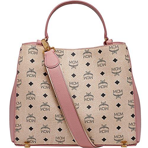 [New Arrival] 2015 SS MCM Authentic CORINA VISETOS Medium Shoulder Bag – Pink MWS5SCN03PK