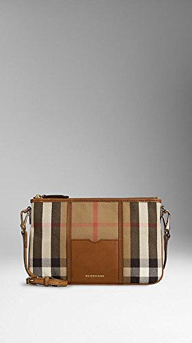 Burberry House Check and Leather Clutch Bag 39458691