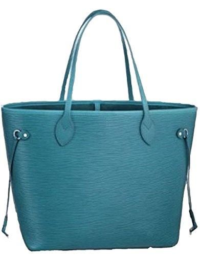 Bushels Handbags Inspired EPI Blue Neverfull Designer Ladies Handbags A+ Quality Shoulder Bag
