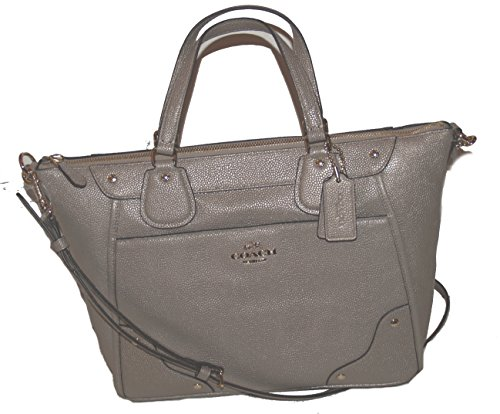 Coach Caviar Grain Leather Mickie Satchel Handbag