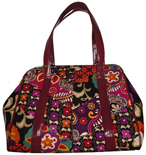 Vera Bradley Chevron Medley Collection – Frame Satchel Bag in Suzani