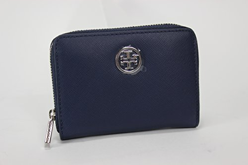 Tory Burch Robinson Zip Coin Case (Parisian Blue)