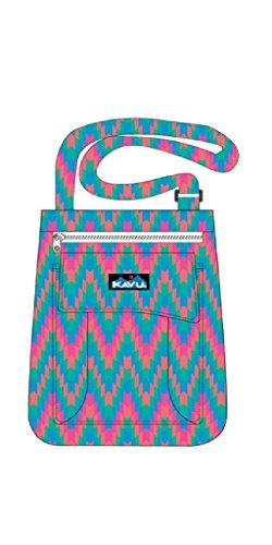 Kavu Women's Keeper Shoulder Bag, Neon Tile, One Size