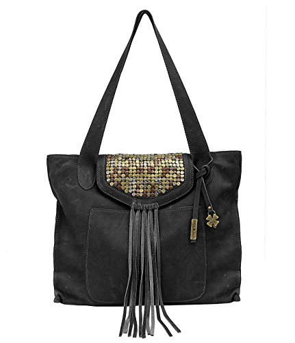 Lucky Brand Metal Works Tote (Black)