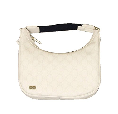 Gucci White Satchel Coated Canvas Hobo Bag Handbag