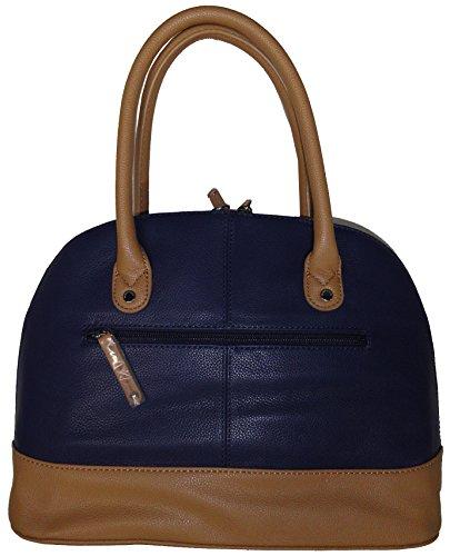 Tignanello Women's Genuine Leather Medium Dome Handbag, Ink/Honey