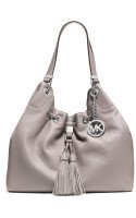 Michael Kors Camden Large Drawstring Shoulder Tote Ash Grey Leather