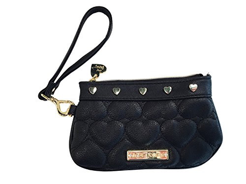 Betsey Johnson Quilted Heart Wristlet
