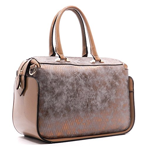 Rodeo Boston Python Print Satchel