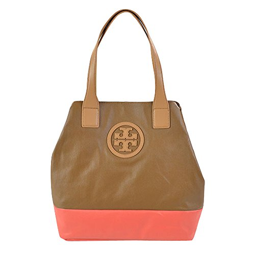 Tory Burch Michelle Tote Royal Tan Poppy Red