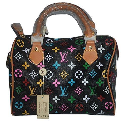 Authentic Vintage Louis Vuitton Speedy 25 M41528 Black Leather Monogram Handbag