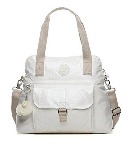 Kipling Pahneiro Tote Handbag Purse (Pearl White)