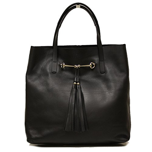 Gucci Horsebit Medium Sized Soft Leather Tote Bag 297005
