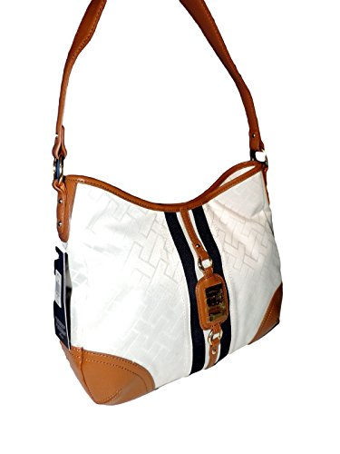 Tommy Hilfiger Hobo Shouldber Bag Purse White