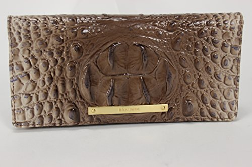 Brahmin Ady Wallet in Amaretto Melbourne Croco Embossed Leather