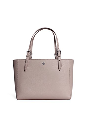 Tory Burch Small York Buckle Tote in French Gray
