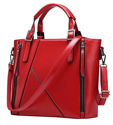 Heshe® Lady's Pu Faux Leather Fashion Designer Tote Top Handle Shoulder Crossbody Bag Messenger Bag Shopping Satchel Purse Women's Handbag