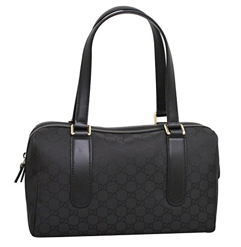 Gucci Black Nylon Satchel Charmy Handbag Boston Bag 257289