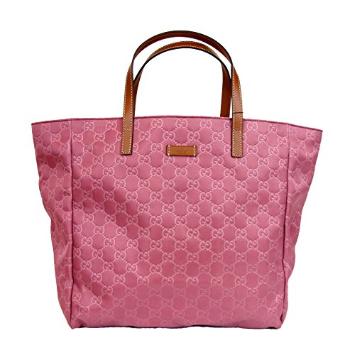 Gucci Pink Guccissima Nylon Handbag Tote Bag 282439 6265