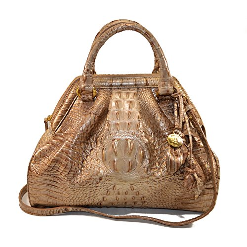 Brahmin Sara Rose Aztec Lady Melbourne Leather satchel
