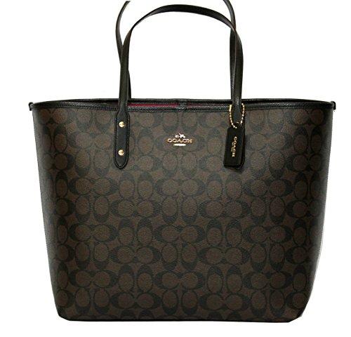 Coach Signature Large City Women's Tote Handbag Bag F36126