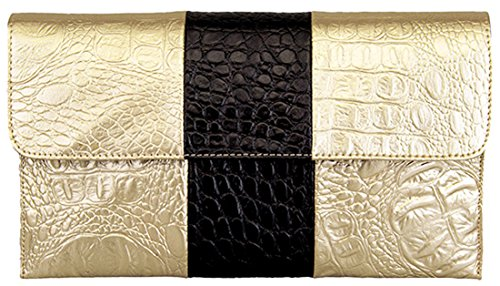 Heshe® Fashion Women's Genuine Leather Cross Body Shoulder Long Clutch Purse Evening Envelope Bags Wallet Handbag for Ladies