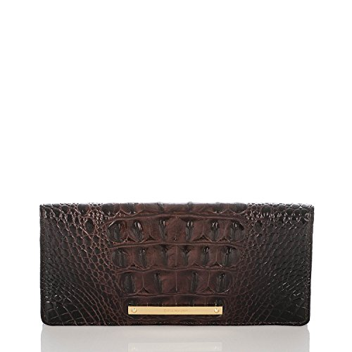 BRAHMIN Ady Wallet Cocoa Melbourne Genuine Leather Skinny Wallet