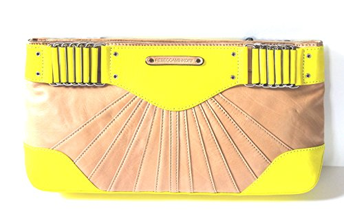 Rebecca Minkoff Yellow and Tan Park Ave Clutch