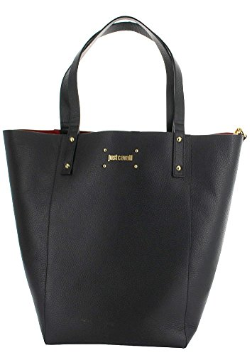 Just Cavalli Large Carry All Tote Bag with Wristlet, Black
