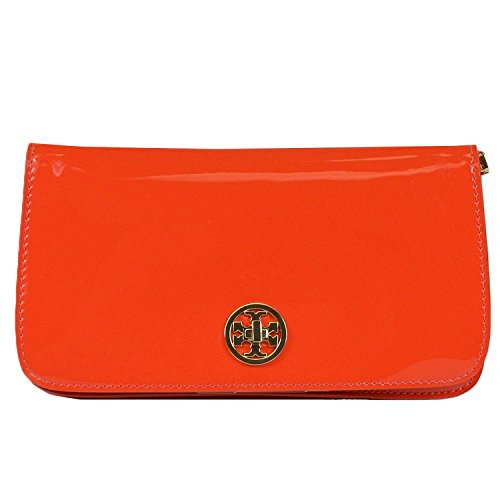 Tory Burch Adalyn Clutch in Poppy Red Patent Leather