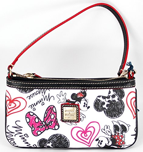 Disney Dooney & Bourke Minnie Mouse Hearts & Bows Wristlet Wallet