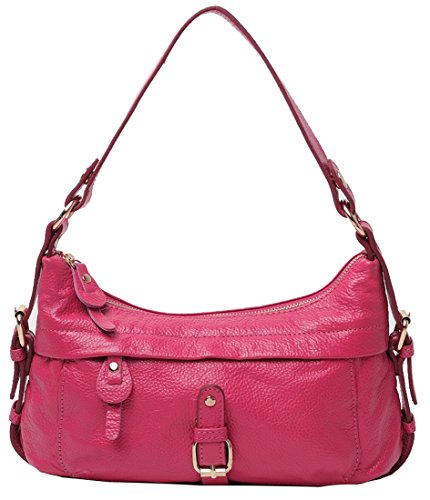 Heshe® New Fashion Western Style Lady Soft Genuine Leather Mini Shoulder Bag Handbag Tote Top-handle Purse Cross Body Casual Simple Style Satchel Cell Phone Pocket