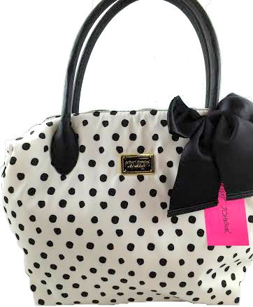 Betsey Johnson Nylon Polka Dot Tote BB16315