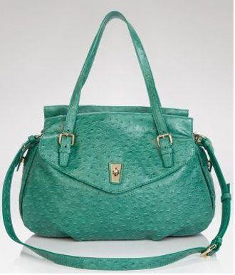 Marc by Marc Jacobs Ozzie Aurora Satchel Bag Tote Parrot Green