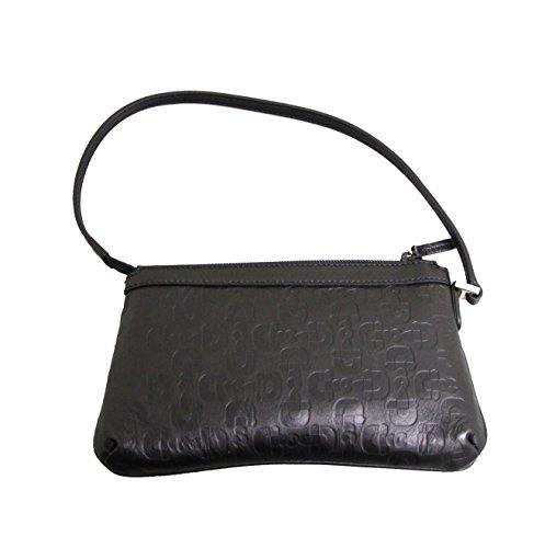 Gucci Black Horsebit Handbag Leather Bag Pouch 272381