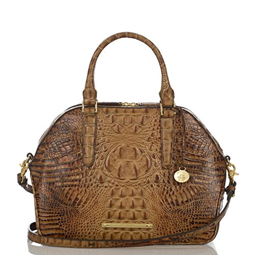 NEW AUTHENTIC BRAHMIN CONVERTIBLE HUDSON SATCHEL TOTE (Toasted Almond)