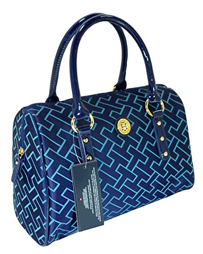 Tommy Hilfiger Signature Satchel Navy & Turquoise