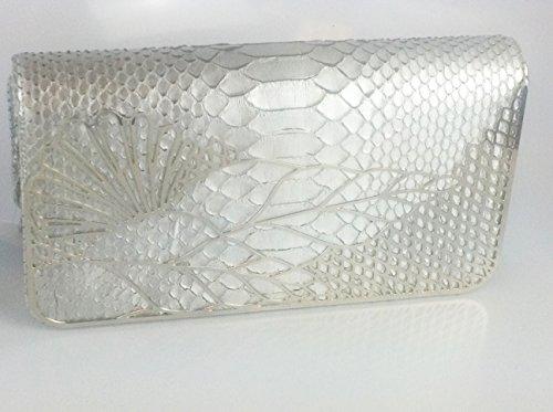 Judith Leiber Silk Foiled Python Raquel , Evening Dress Hand Bag,