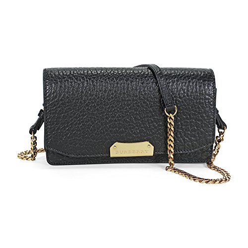 Burberry Small Signature Grain Leather Clutch – Black