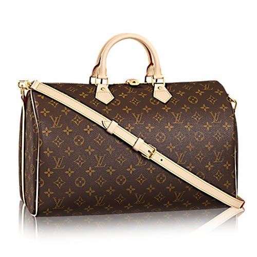 LOUIS V BAGS Monogram Handbags for Women Original : Monogram Canvas Speedy Bandouliere 35 of Coated Leather Wallet Canvas on Clearance.