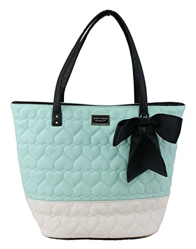 Betsey Johnson Be Mine Key Item Tote Shoulder Handbag, Mint