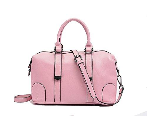Mn&Sue Fashion Vintage Women's Doctor Style Soft Genuine Leather Leisure Satchel Shoulder Top-handle Tote Handbags