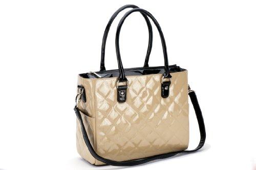 JP Lizzy Patent Classic Designer Diaper Bag