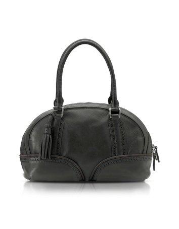 Pineider 1774 Calfskin Skittle bag Black